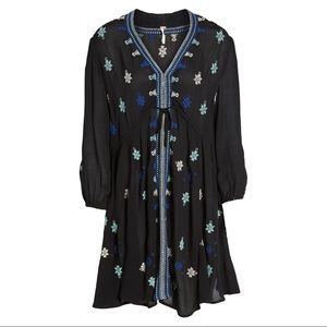 Free People Star Gazer embroidered boho mini dress